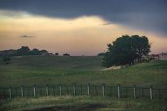 Het landschap van de K1518-trein die overgaan door stock fotografie