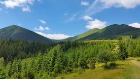 Het landschap van de Karpatische Bergen Royalty-vrije Stock Afbeeldingen