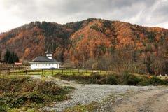 Het landschap van de kerk Stock Foto