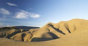 Het landschap van de klei in Spanje stock afbeelding