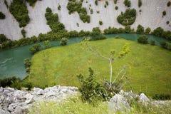 Het landschap van de Kruparivier Stock Afbeeldingen