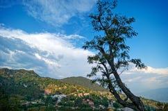 Het landschap van de Kulluvallei op de manier aan de Tempel van Bijli Mahadev Royalty-vrije Stock Fotografie