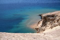 Het landschap van de kustlijn stock fotografie