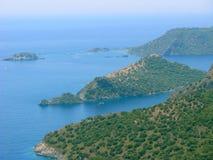 Het landschap van de kustlijn van Middellandse Zee Turkije Stock Foto