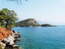 Het landschap van de kustlijn van Middellandse Zee Turkije Royalty-vrije Stock Foto