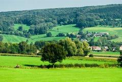 Het landschap van de landbouwgrond stock afbeeldingen