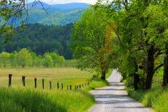 Het landschap van de landweg Stock Afbeelding