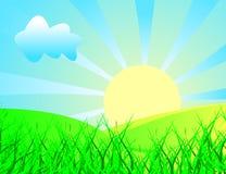 Het landschap van de lente vector illustratie