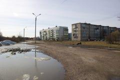 Het landschap van de de lentestad stock fotografie