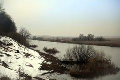 Het landschap van de de lentevloed royalty-vrije stock afbeeldingen