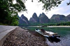 Het landschap van de Lijiangrivier Stock Foto's