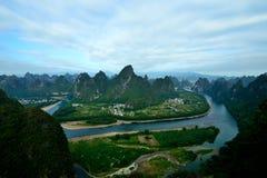 Het landschap van de Lijiangrivier Stock Foto