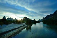 Het landschap van de Lijiangrivier Royalty-vrije Stock Foto