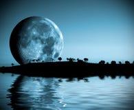 Het landschap van de maan Stock Fotografie