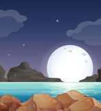 Het landschap van de maan Stock Afbeeldingen