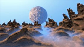 Het landschap van de maan Stock Afbeelding