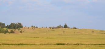 Het landschap van de meningsherfst, zuidelijke Bohemen, Tsjechische Republiek Stock Foto's