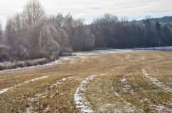 Het landschap van de meningsherfst, zuidelijke Bohemen, Tsjechische Republiek Royalty-vrije Stock Afbeelding