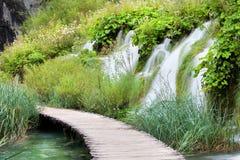 Het Landschap van de Meren van Plitvice stock afbeeldingen