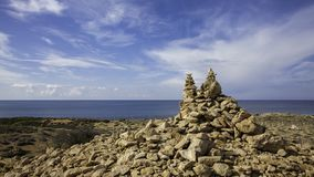 Het landschap van de Middellandse Zee stock fotografie