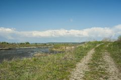 Het landschap van de Muresrivier Stock Foto's