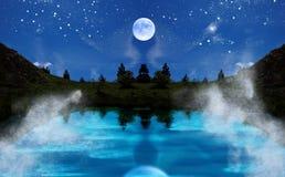 Het landschap van de nacht Stock Foto's