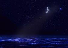 Het landschap van de nacht royalty-vrije illustratie