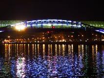 Het landschap van de nacht Stock Foto