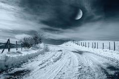 Het landschap van de nacht in het platteland Royalty-vrije Stock Foto's