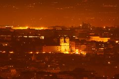Het Landschap van de Nacht van Rome Stock Afbeeldingen