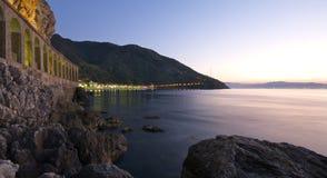 Het landschap van de nacht van Scilla Royalty-vrije Stock Fotografie