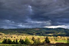Het Landschap van de onweersbui Royalty-vrije Stock Afbeeldingen
