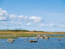Het landschap van de Oostzeekreek Stock Foto