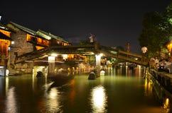 Het landschap van de oude stad van Wuzhen in Zhejiang, China royalty-vrije stock foto