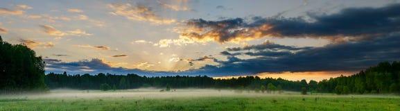 Het landschap van de panoramaochtend royalty-vrije stock fotografie