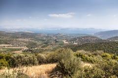 Het landschap van de Peloponnesus, Griekenland Royalty-vrije Stock Afbeelding