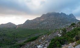 Het landschap van de Pentadaktylosbergketen Stock Foto