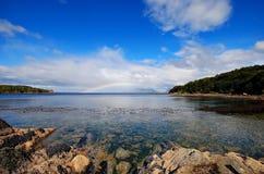 Het landschap van de regenboog stock foto's