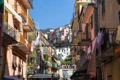 Het landschap van de Riomaggiorekust Royalty-vrije Stock Fotografie