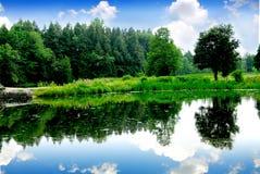 Het landschap van de rivier Royalty-vrije Stock Fotografie