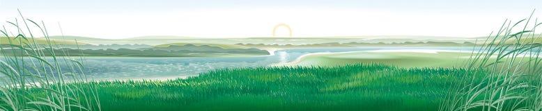 Het Landschap van de rivier royalty-vrije illustratie