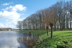 Het landschap van de rivier Stock Foto's