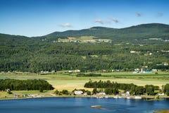 Het landschap van de rivier Stock Fotografie