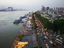 Het landschap van de Rivier van Yangtze royalty-vrije stock afbeelding