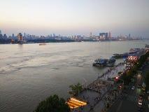 Het landschap van de Rivier van Yangtze stock fotografie