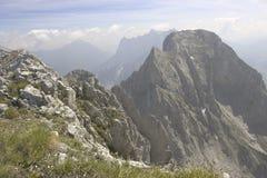 Het landschap van de rots, Alpen Stock Afbeeldingen