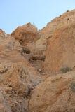 Het Landschap van de rotswoestijn in Ein Gedi, Israël Royalty-vrije Stock Fotografie
