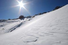 Het landschap van de sneeuw Stock Foto
