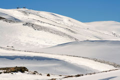 Het landschap van de sneeuw Royalty-vrije Stock Afbeelding