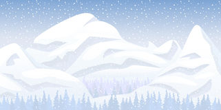 Het landschap van de sneeuwberg Royalty-vrije Stock Fotografie